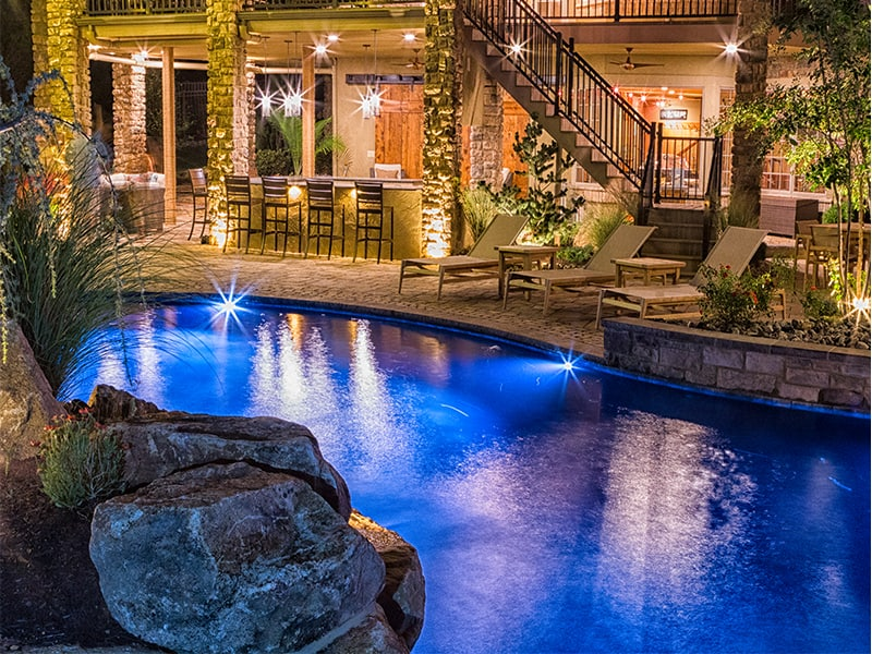 Take Your Backyard Pool Up 10 Notches with LED Lighting