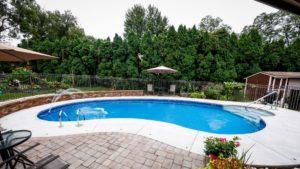 Clean Backyard Pool