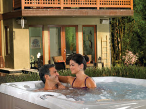 Spice up date night with a hot tub